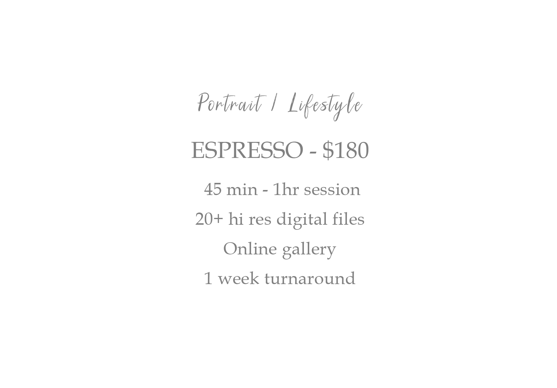 Jennifer Michelle Photography Moncton NB Pricing